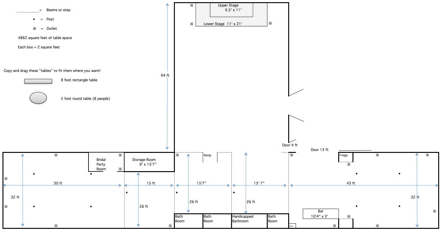 floorplan of barn